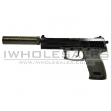 Double Eagle M23 Spring Pistol with Silencer (Black)