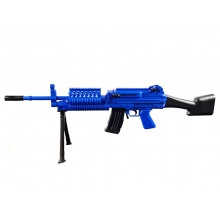 Golden Hawk M249 Rifle with Bipod (95cm Length - Spring Powered - Blue)