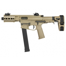 Ares M45X-S with EFCS Gearbox (Retractable Stock with Arm Stabilizing Brace - Tan - AR-086E)