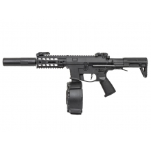 Classic Army PX9 X9 AEG SMG (With Drum Magazine and Silencer - ENF010P-1) 0.5J  German Spec