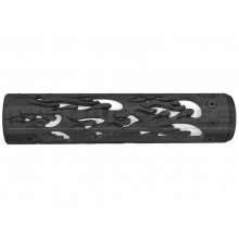 """Unique ARs CNC Machined Flame Handguard for AR15 Pattern Rifles (Black - 9"""" - With Airsoft Barrel Nut)"""