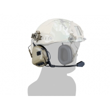 Big Foot Fifth Generation Sound Pickup and Noise Reduction Headset Simulator (Helmet Wearing - Tan)