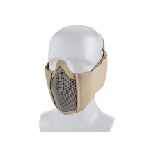 Big Foot Tactical Mesh Half Face Mask (With Ear Protection - Tan)
