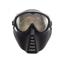 CCCP Small Flying Mask with Nylon Goggle (Black)